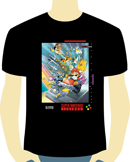 camiseta snes legends - chico