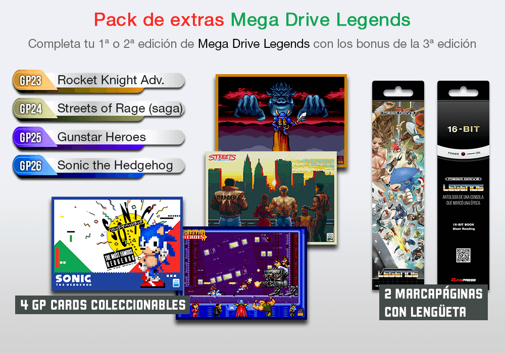 Extras Mega Drive Legends